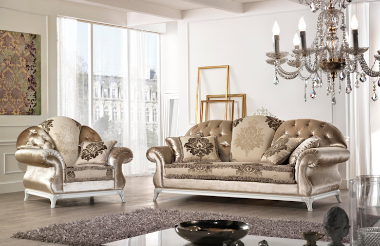 classic  by Viadurini, Classic Textile Amber/Gold