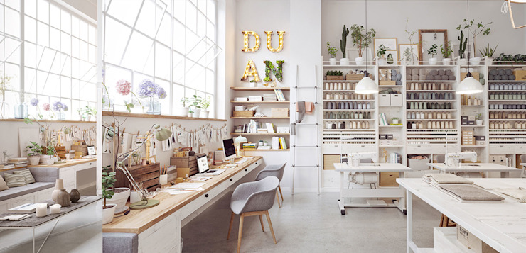 moda atölyesi Modern Çalışma Odası GN İÇ MİMARLIK OFİSİ Modern
