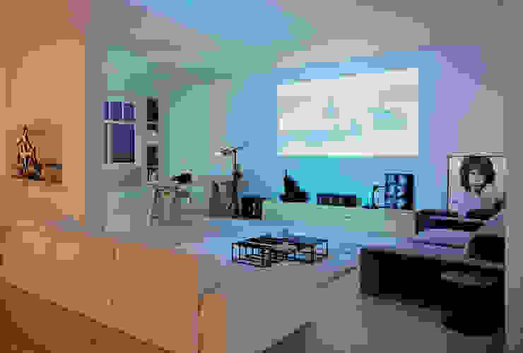 stüdyo daire Modern Oturma Odası GN İÇ MİMARLIK OFİSİ Modern