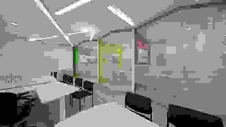 Diseño oficinas franquicia Cosechas Express de Dies diseño de espacios Minimalista