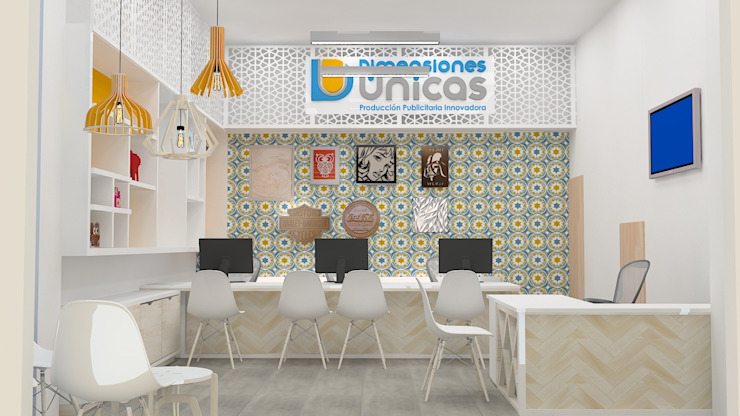 Diseño de oficinas-showroom de Dies diseño de espacios Escandinavo
