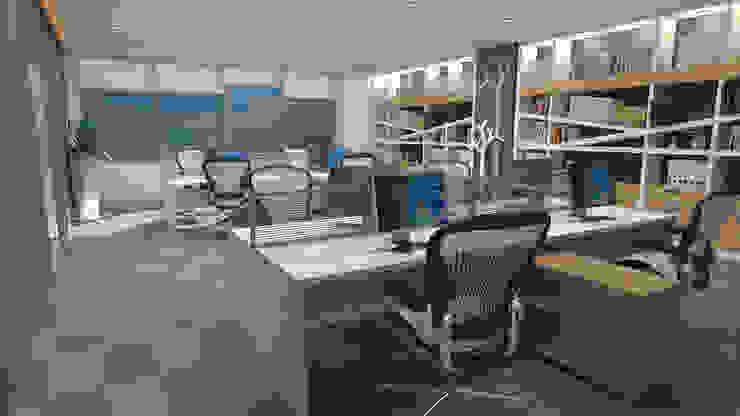 Oficinas de Dies diseño de espacios Moderno