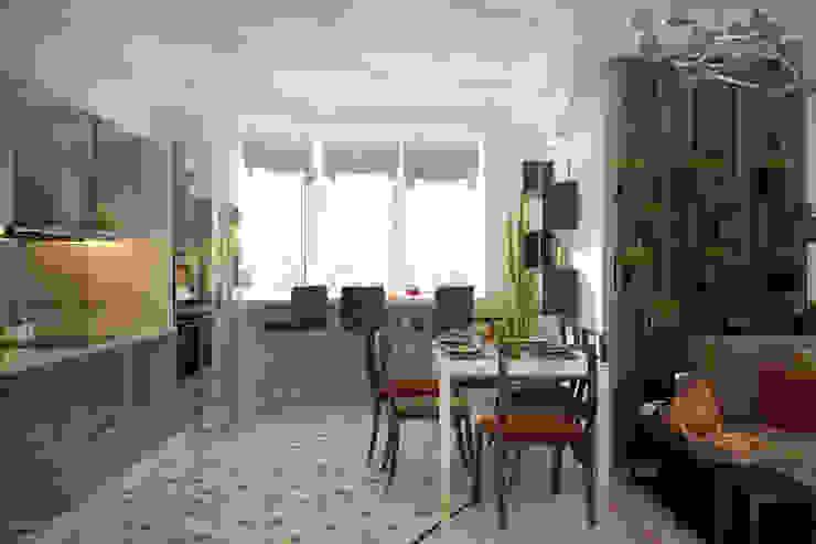 Modern style kitchen by Студия интерьерного дизайна happy.design Modern