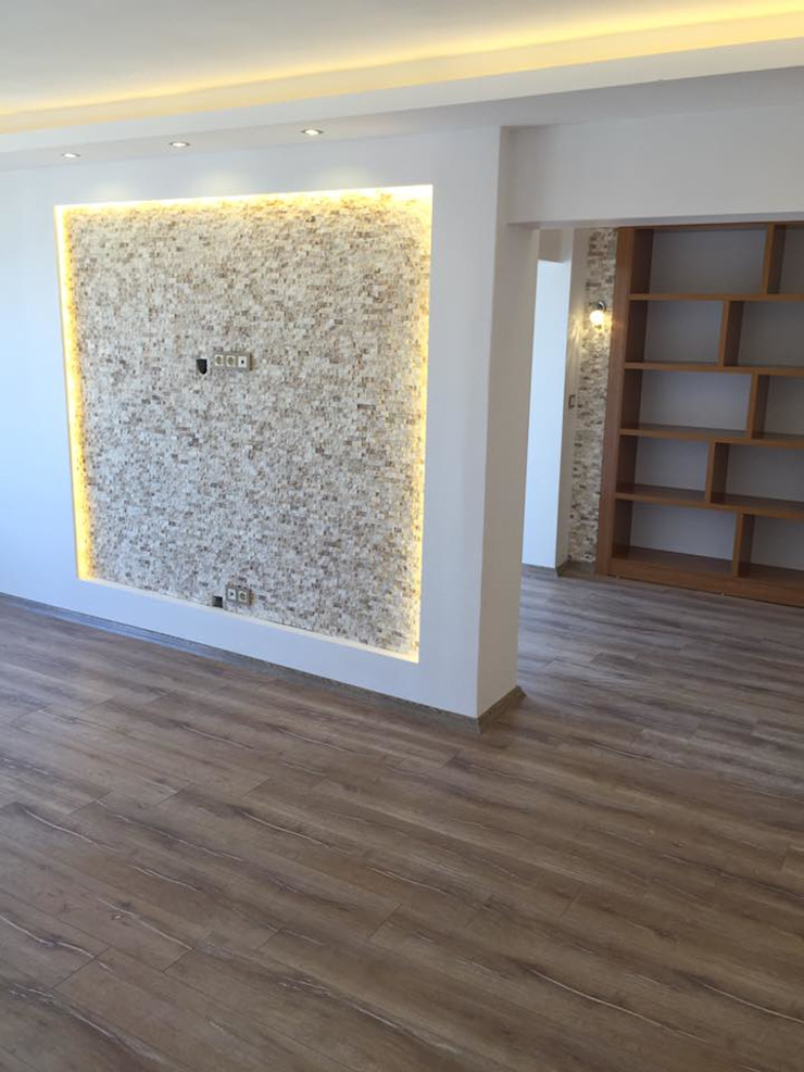 Modern study/office by Lens İnşaat Elektrik Elektronik San.Tic.Ltd.Şti. Modern Wood Wood effect