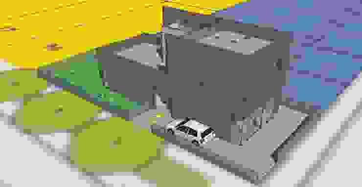 3d model ontwerp van architectuurstudio Kristel Minimalistisch