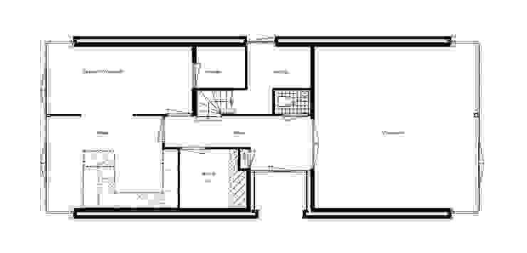 Plattegrond Begane Grond van architectuurstudio Kristel Minimalistisch