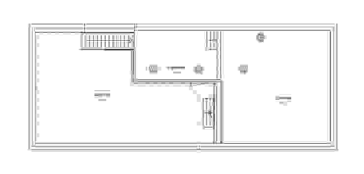 Plattegrond dakterrassen van architectuurstudio Kristel Minimalistisch