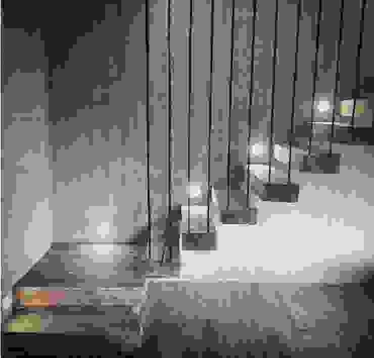 Pasillos y vestíbulos de estilo  por F+F Arquitectos, Moderno Madera Acabado en madera