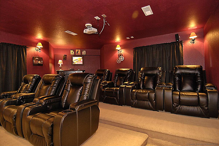 home theatre Modern Media Room by Outer Banks Renovation & Construction Modern