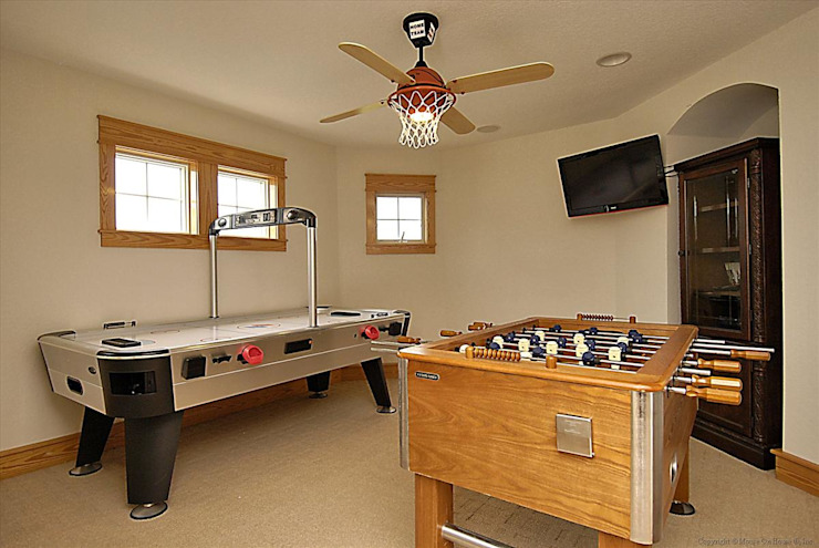 2nd game room with air hockey and Foosball Modern Media Room by Outer Banks Renovation & Construction Modern
