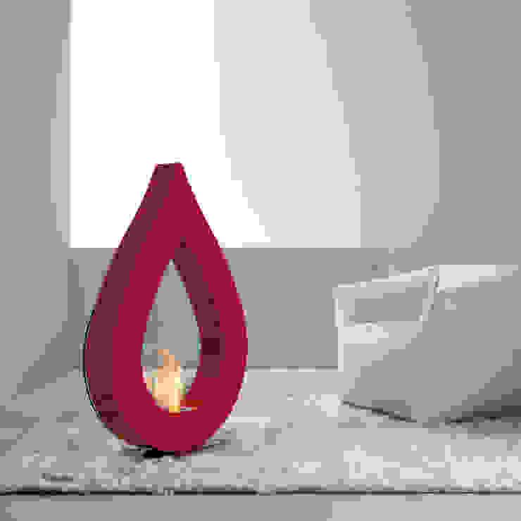 Biocamino da terra a bioetanolo, design moderno a forma di fiamma Todd di Viadurini Moderno Alluminio / Zinco