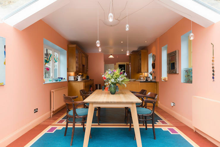 Kitchen extension in Queens Park, London Eclectic style living room by Studio 29 Architects ltd Eclectic
