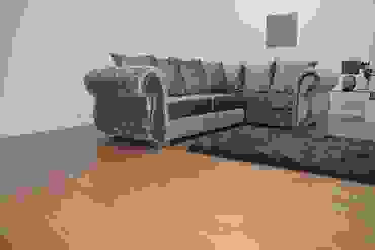 Crushed Velvet Corner Sofa Silver Por