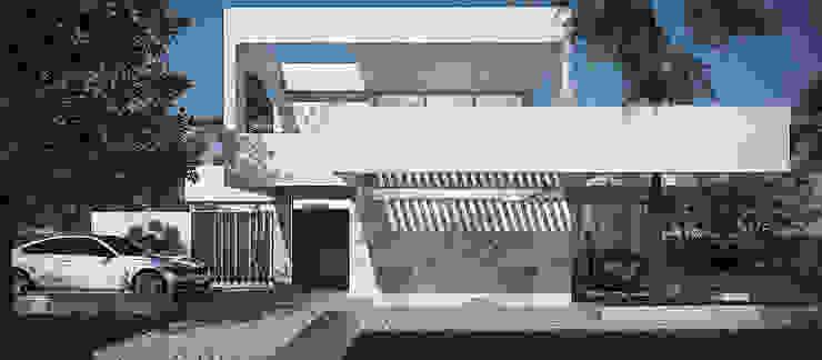 Дома в стиле модерн от Estudio MaRqS Модерн Бетон