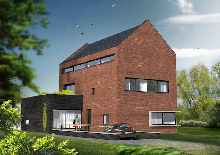 dijkwoning: modern  door loko architecten, Modern