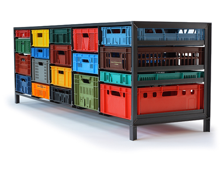 Crates Cabinet by Mark van der Gronden: modern  by NLstudio, Modern Metal
