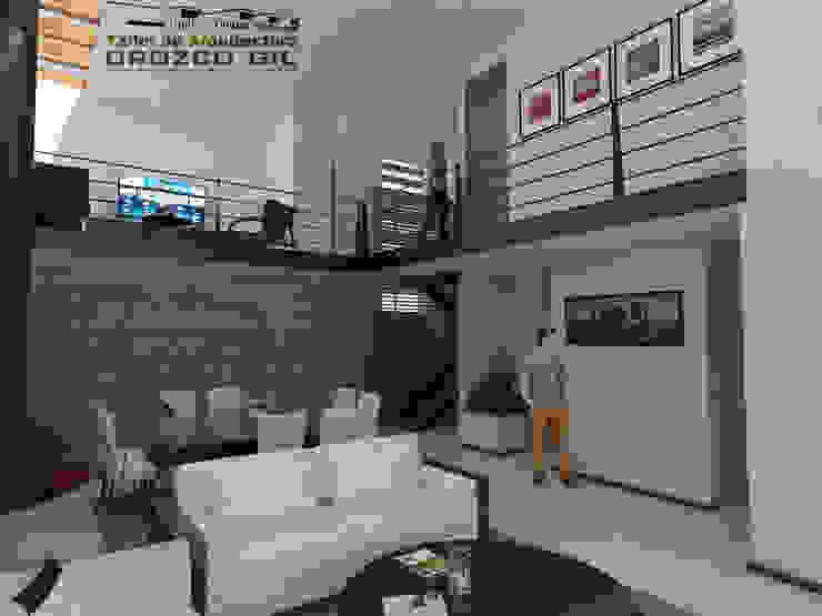 CASA LOPEZ-CADENA Salones minimalistas de OROZCO GIL TALLER DE ARQUITECTURA Minimalista