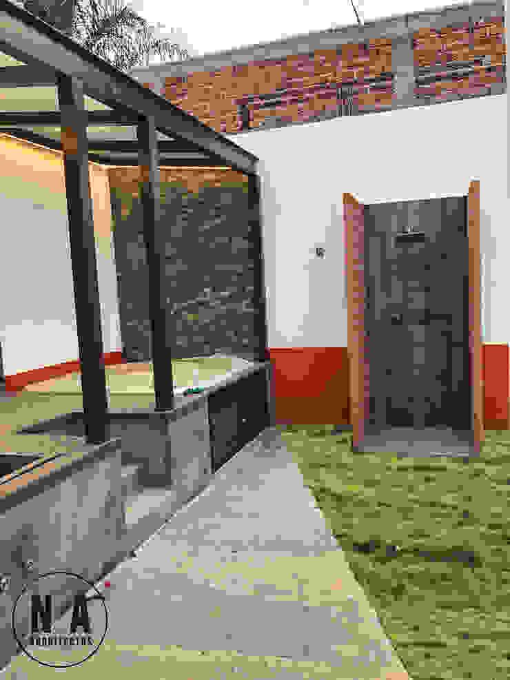 NA Arquitectos 診所 磚塊 Orange