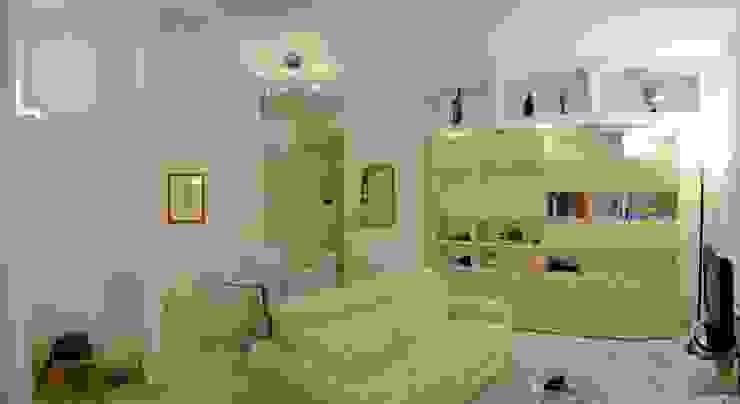 现代客厅設計點子、靈感 & 圖片 根據 MBRstudio Architetti 現代風