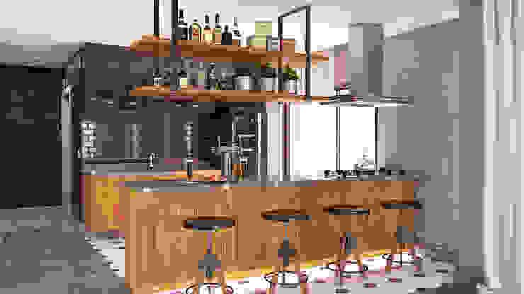 Cocinas de estilo  por MS One Arquitetura & Design de Interiores, Industrial
