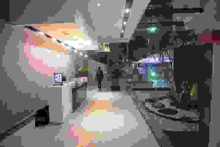Departamentos Parview Pasillos, vestíbulos y escaleras modernos de REC Arquitectura Moderno