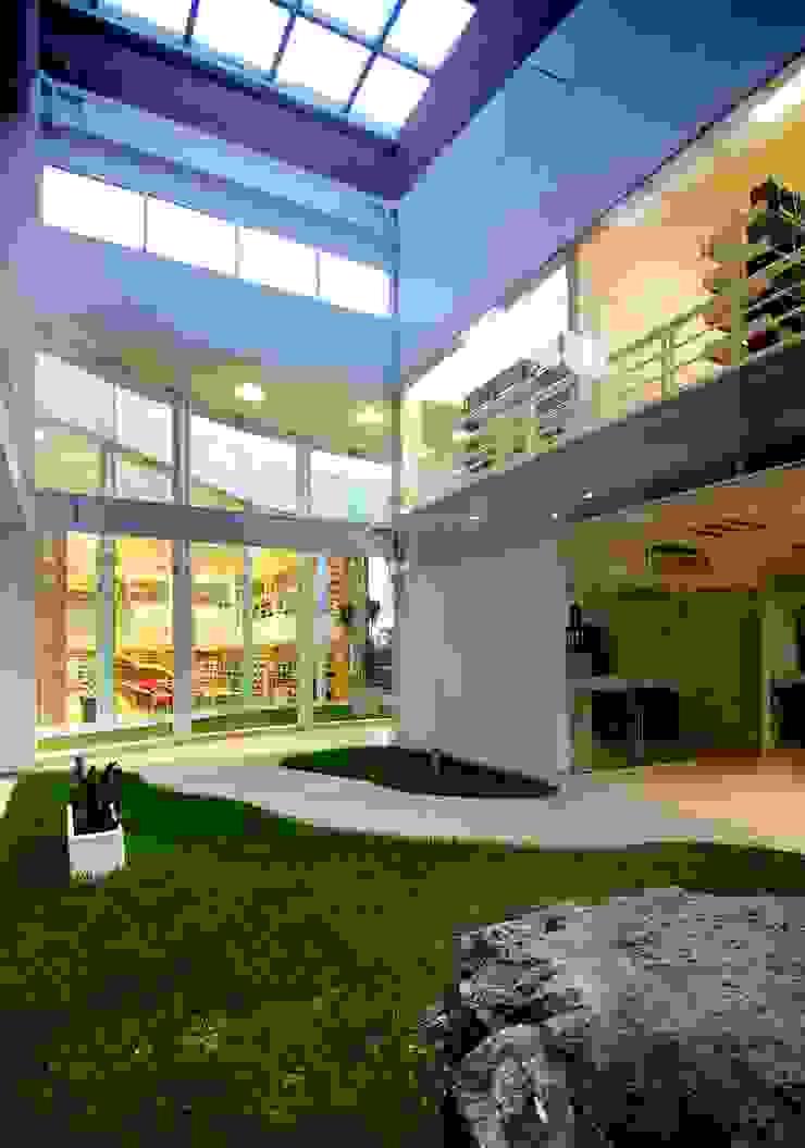 Biblioteca Central REC Arquitectura Jardines modernos