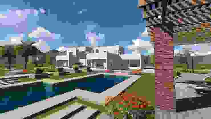 Vivienda F & V Casas de estilo mediterráneo de CA|Arquitectura Mediterráneo