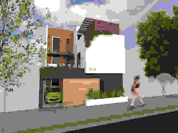 Fachada principal. Casas modernas de Arqternativa Moderno Ladrillos