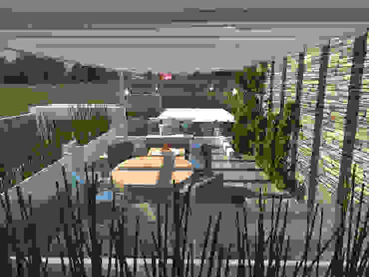 Terraza Superior Balcones y terrazas modernos de Arqternativa Moderno Madera Acabado en madera