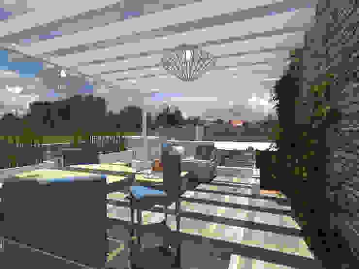 Balcon, Veranda & Terrasse modernes par Arqternativa Moderne Bois Effet bois