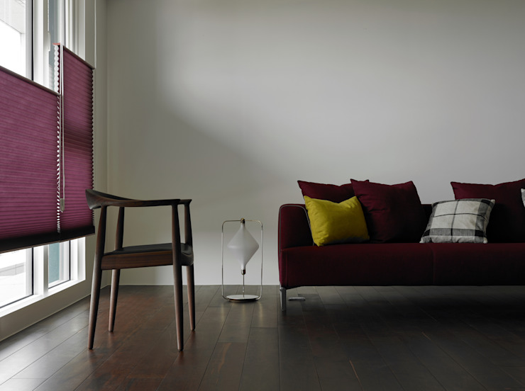 Moderne woonkamers van 洪文諒空間設計 Modern