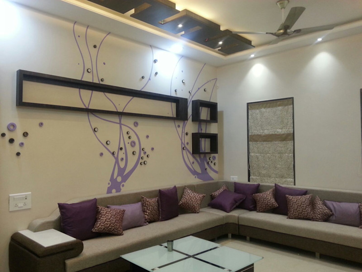 Living room by YOJNA ARCHITECTS, Minimalist