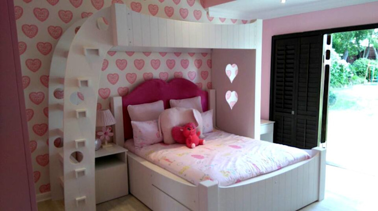 Completed bedroom for young teenager girl by CKW Lifestyle Associates PTY Ltd Colonial Solid Wood Multicolored