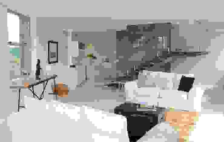 Apex Building—Penthouse Modern living room by House of Gargoyle Modern