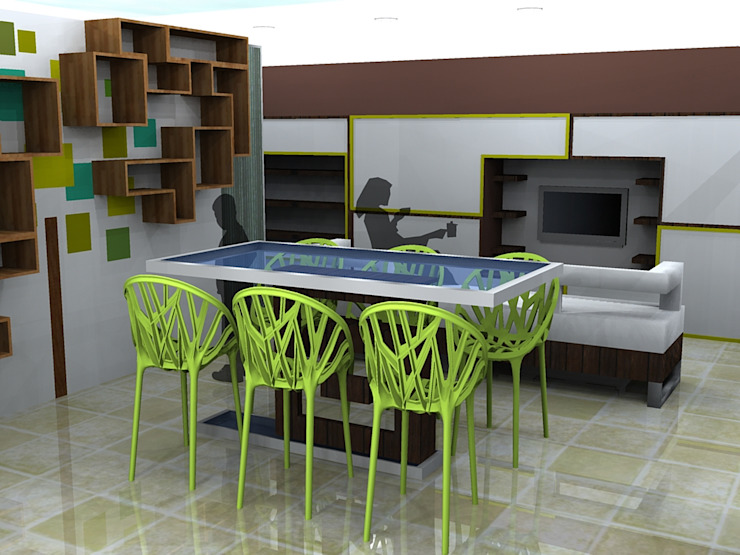 Children's games room and study area by CKW Lifestyle Associates PTY Ltd Minimalist Engineered Wood Transparent