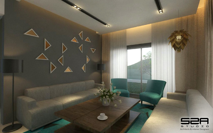 Residential Apartment Modern living room by S2A studio Modern
