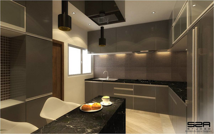 Residential Apartment S2A studio Modern kitchen
