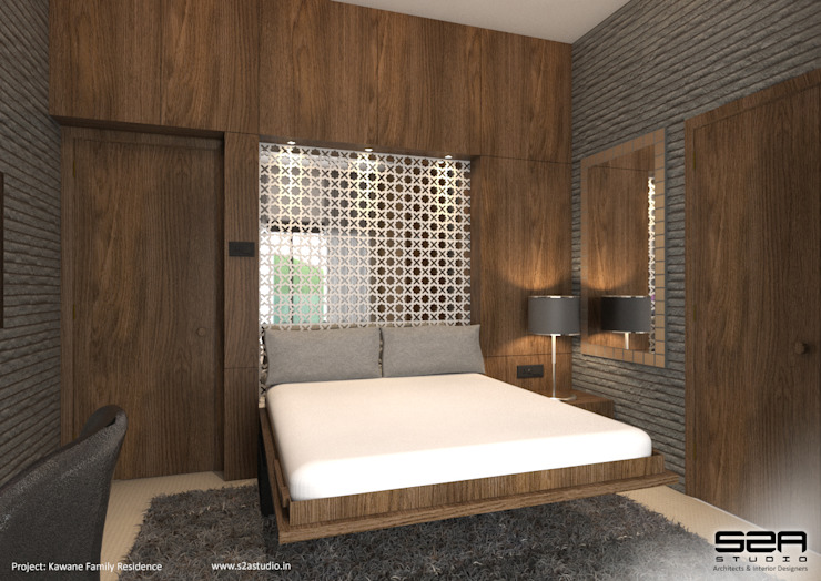 Residential Apartment Modern style bedroom by S2A studio Modern