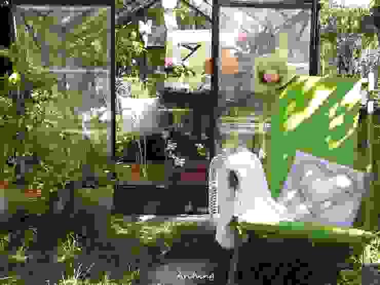 Jardines de invierno rurales de Arching - Architettura d'interni & home staging Rural Hierro/Acero