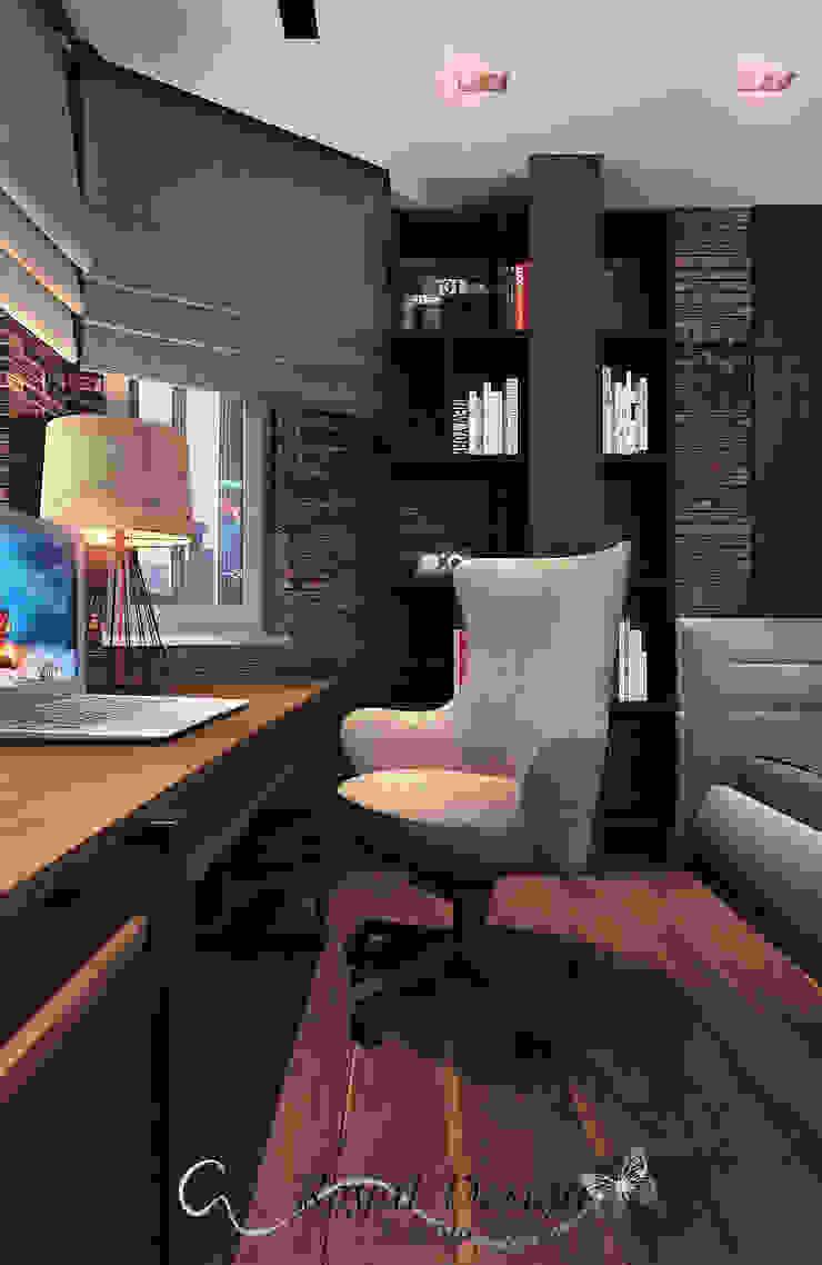 Your royal design Oficinas y bibliotecas de estilo industrial Marrón
