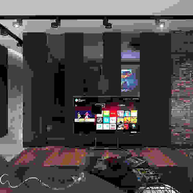 Your royal design Salas multimedia de estilo industrial Marrón