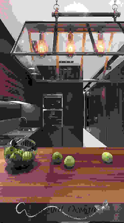Your royal design Cocinas de estilo industrial Negro