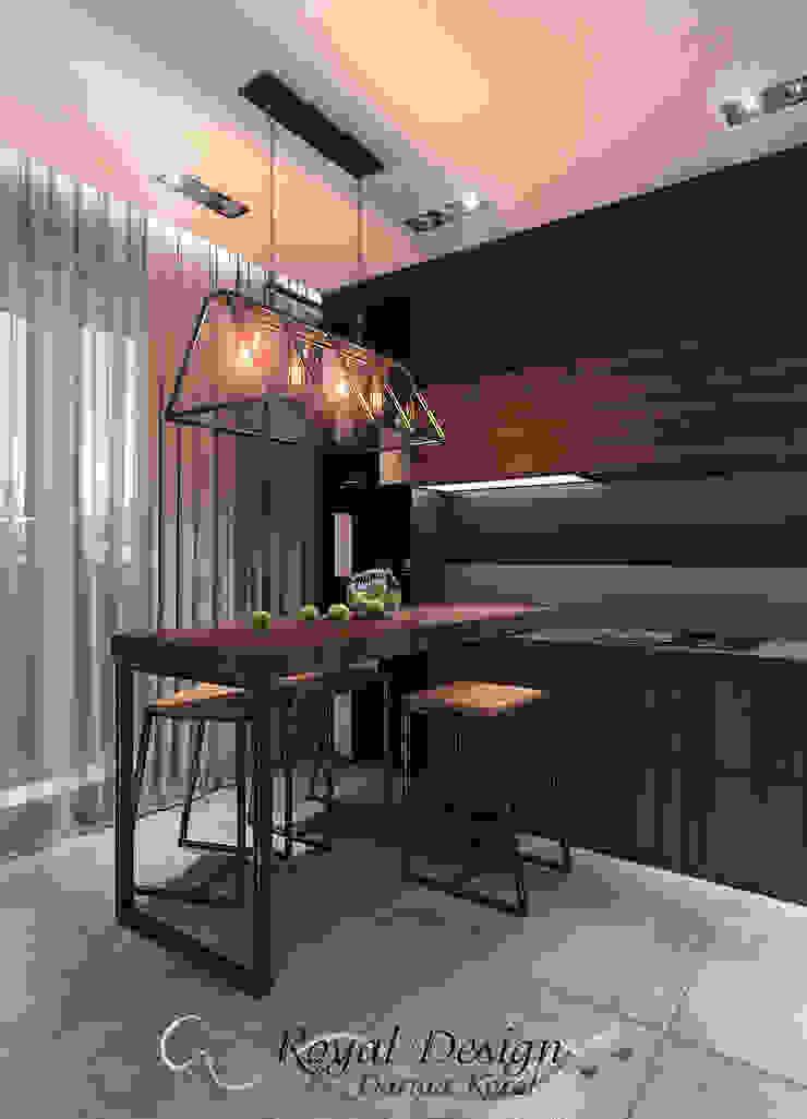 Your royal design Cocinas de estilo industrial Marrón