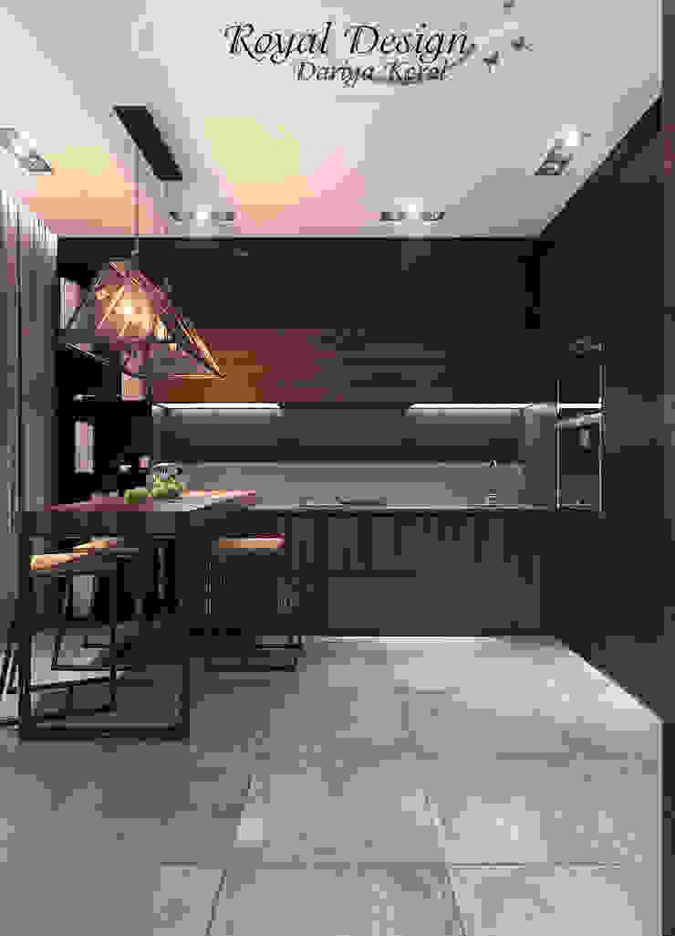 Your royal design Cocinas de estilo industrial Acabado en madera