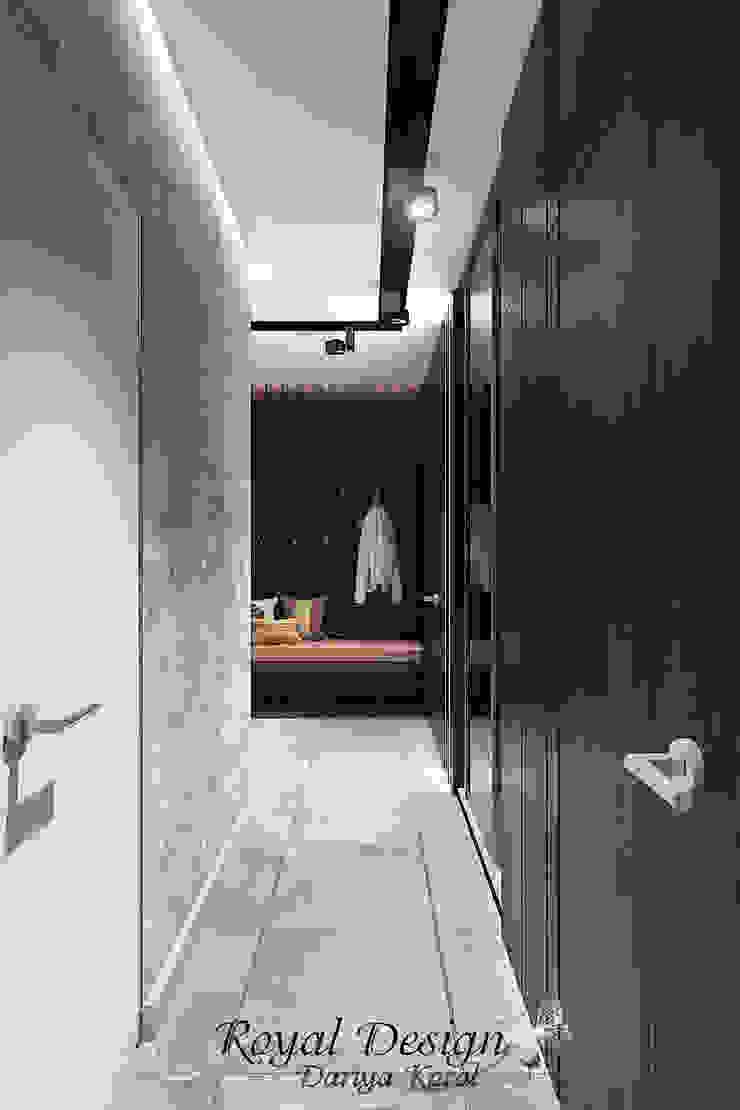 Your royal design Pasillos, vestíbulos y escaleras industriales Gris