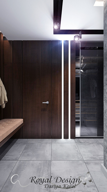 Your royal design Pasillos, vestíbulos y escaleras industriales Acabado en madera