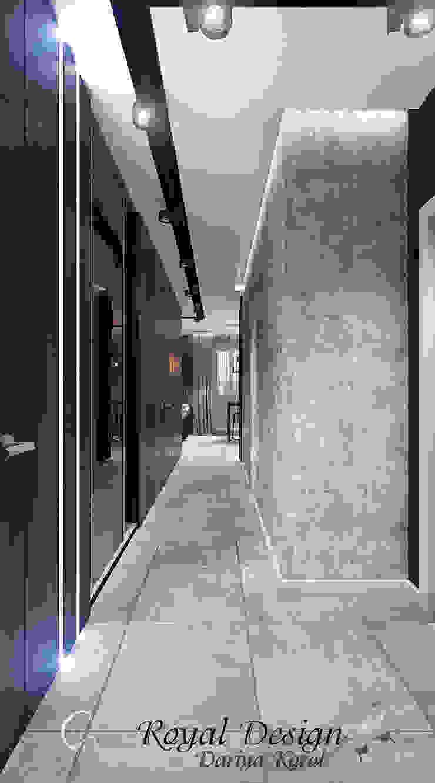 Your royal design Pasillos, vestíbulos y escaleras industriales Marrón