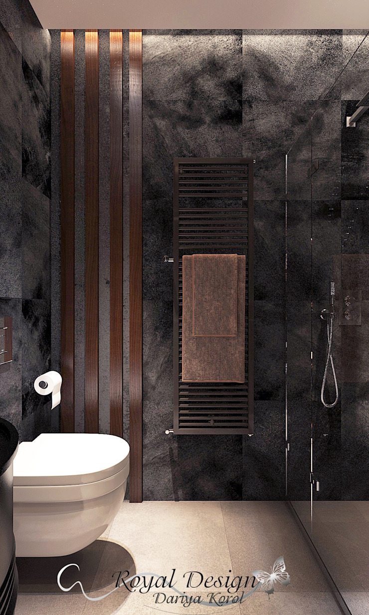 Your royal design Baños de estilo industrial Negro