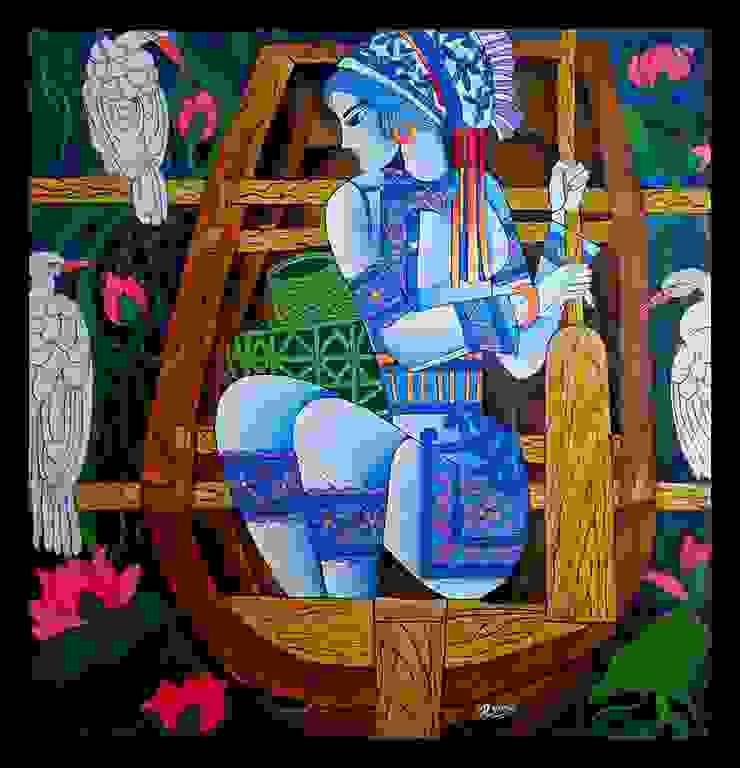 The fisher woman  : modern  by Indian Art Ideas,Modern