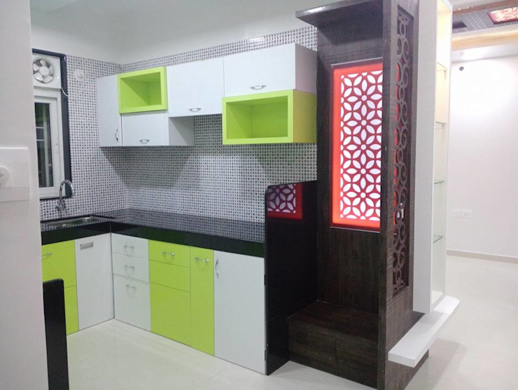 2 BHK RESIDENTIAL PROJECT @2016 SHARADA INTERIORS Modern kitchen